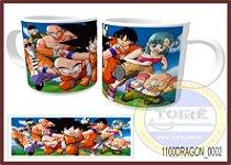 Caneca Cerâmica Branca 325ml Cilíndrica - Dragon Ball Z (01Unid.)