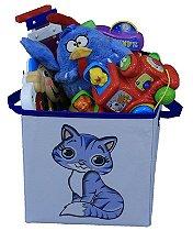 Caixa Organizadora de Brinquedos 28x30x28cm - GATINHA
