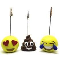 Kit 6 PhotoEmoji Porta Recado e Retrato Emoji Apaixonado Cocozinho Chorando de Rir
