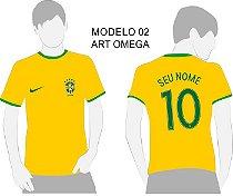 Camisa Torcedor Seleção Brasileira Copa 2018 Personalizada
