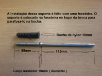Suporte Invisivel para prateleiras ( kit com 3 peças )