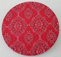 capa tecido bandana vermelha