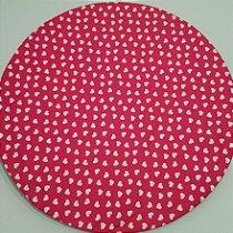 Capa Sousplat Coração branco fundo pink