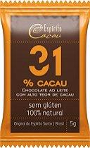 Mini Tablete de Chocolate 31% Cacau (5g)