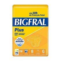 Fralda Descartável Geriátrica Bigfral - G - 8 Unidades