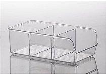 883 - Organizador Diamond com Divisórias Cristal | 28X14X9CM