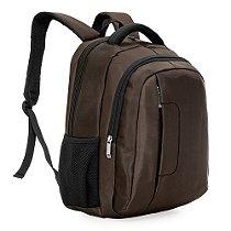 Mochila de poliéster com compartimento principal com bolso para notebook 14 polegadas