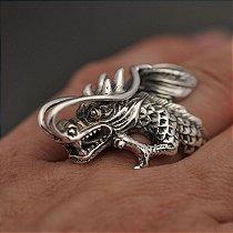 Anel Dragão Em Prata 950k