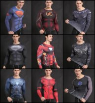 Camisa Superman,Flash,DeadPool,Homem de Ferro Compressão