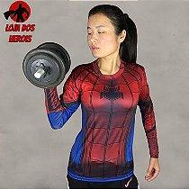 Camisa Feminina Homem Aranha - Manga Longa