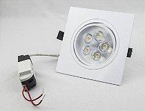 Spot de LED  5W Quadrado Branco Quente Bivolt  1 ano de gar.