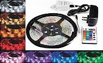 Fita de LED 3528 com 5 Metros RGB Colorida