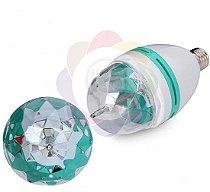 Lâmpada Maluca Giratória RGB (Colorida) - 3w