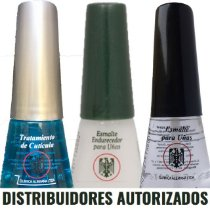 Tratamento de Cutícula + Base Endurecedora + Top Coat - Brilho