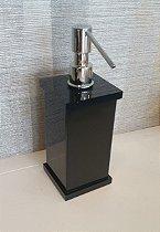 Saboneteira liquida Decor em acrílico Preto - Decor Acrílicos