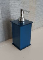 Saboneteira liquida Elegancy em acrílico Azul acetinado - Decor Acrílicos
