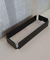 Bandeja / Porta papel toalha Curve em Acrílico Preto - Decor Acrílico