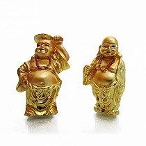 Conjunto com 6 Mini Budas do Dinheiro (5cm) Dourado