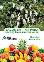 SACO PARA PROTEÇÃO DE FRUTAS NO PÉ EM 21 X 25 cm  EM TNT