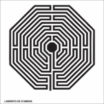 Placa PVC Labirinto de Damiens 17x17 cm