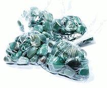 Quartzo Verde Pedra Rolada Saco com 100 gramas