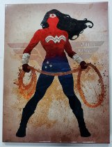 Placa de Metal 26x19 Mulher Maravilha - Arte