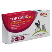 Vermífugo para Cães e Gatos Top Gard  Plus 600mg  -