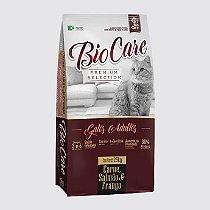 Ração BioCare Selection Gatos Adultos Carne Salmão e Frango