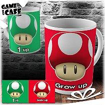 Caneca M17 1 Up - Grow Up - Super Mario