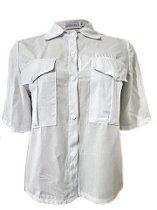 Camisa Cropped - Branca