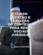 E-Book Curso de Gestão e Criação de Conteúdo para Redes Sociais Jurídicas