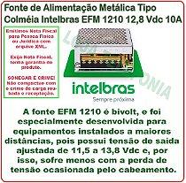 Fonte de Alimentação Metálica Tipo Colméia Intelbras EFM 1210