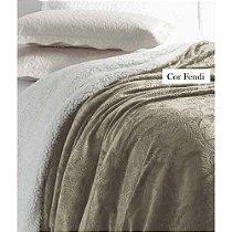 Cobertor Soft Flanel Queen Sherpa Vermot Fendi
