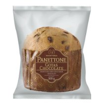 Panettone Romanato Flowpack - Gotas sabor Chocolate 300g