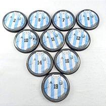 10 Botões - Acrílico Cristal 49mm - Argentina 86