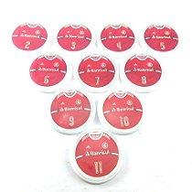 10 Botões - Acrílico Cristal 49mm - Internacional