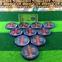 Time de Futebol de Botão - Acrílico Cristal 49mm - Personalizado