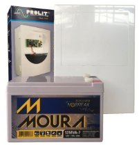 Fonte Temporizada Para Fechadura Eletro imã Com Bateria Moura
