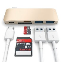 Satechi Type-C USB 3.0 3 in 1 Combo Hub for MacBook 12 with USB -C Charging Port