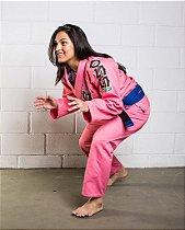 Kimono Jiu Jitsu Oss Feminino Tradicional Rosa