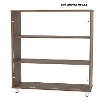 Balcão em madeira 15mm de espessura com Vidro modelo Vitrine ECO 100cm larg x 36cm prof x 110cm alt