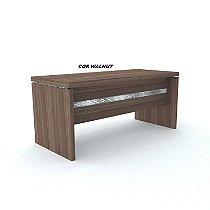 Mesa em madeira tampo engrossado 50/25mm de espessura pé painel 40mm de espessura linha PE50 marca Pandin