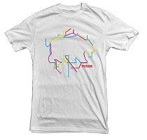 Camiseta Urso Metrô - Branca