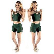 Conjunto B'Bonnie Cropped e Shorts Rafa REF 0216 e 3816