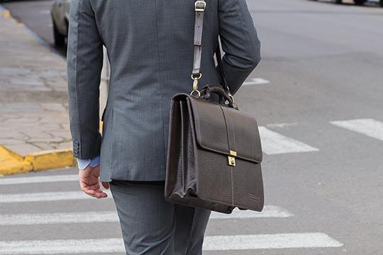 maleta de couro masculina