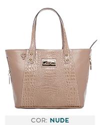 92a0382b8 Bolsa clássica em couro Andrea Vinci pinhão - Enluaze | Bolsas e ...