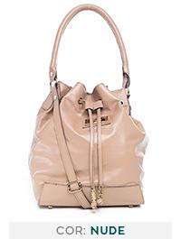f5567214e Bolsa saco em couro legítimo pinhão - Enluaze | Bolsas e acessórios ...