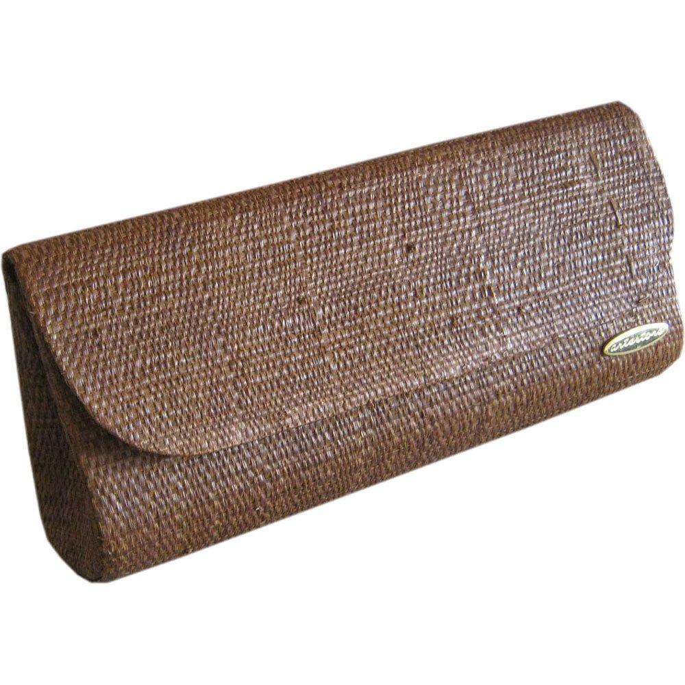 Clutch Bolsa Carteira de Mão em Palha de Buriti Marrom