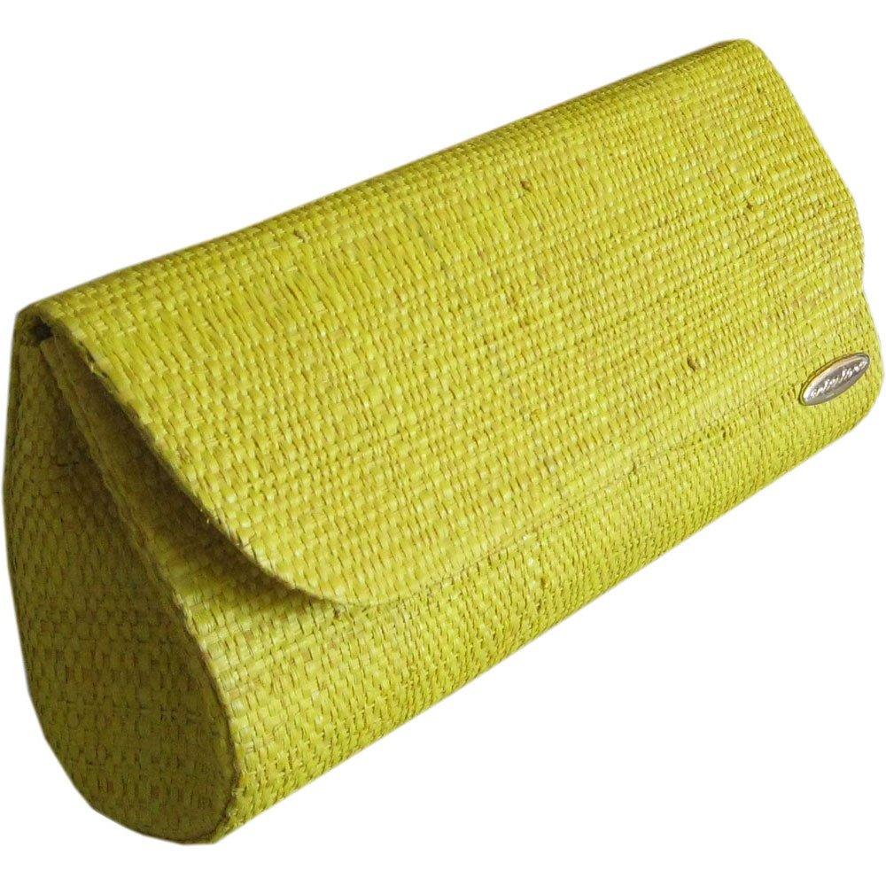 Clutch Bolsa Carteira de Mão em Palha de Buriti Amarela