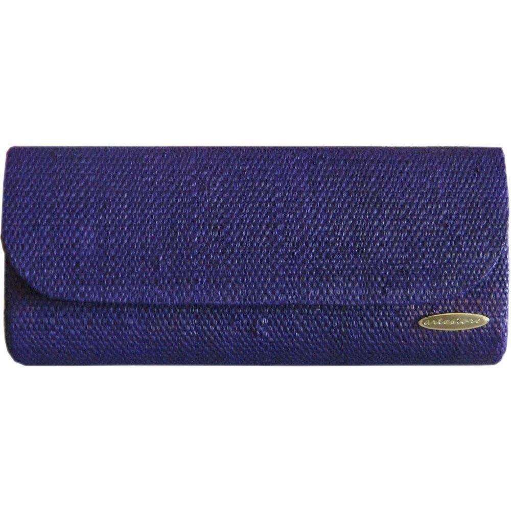 Clutch Bolsa Carteira de Mão em Palha de Buriti Azul